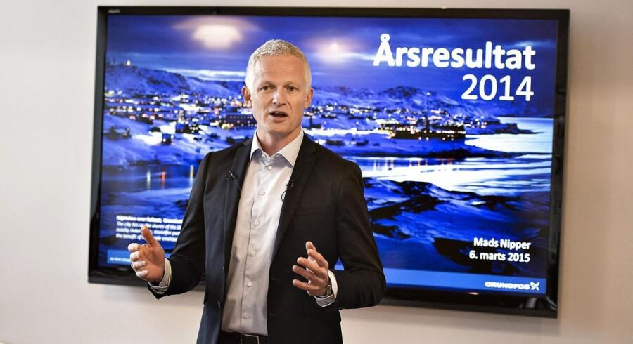 Grundfos' topledelse mødtes tirsdag med selskabets 160 øverste ledere for at kickstarte den 2020-strategi, som Mads Nipper præsenterede i forbindelse med årseregnskabet 2014 i sidste måned. Det sker i Billund.