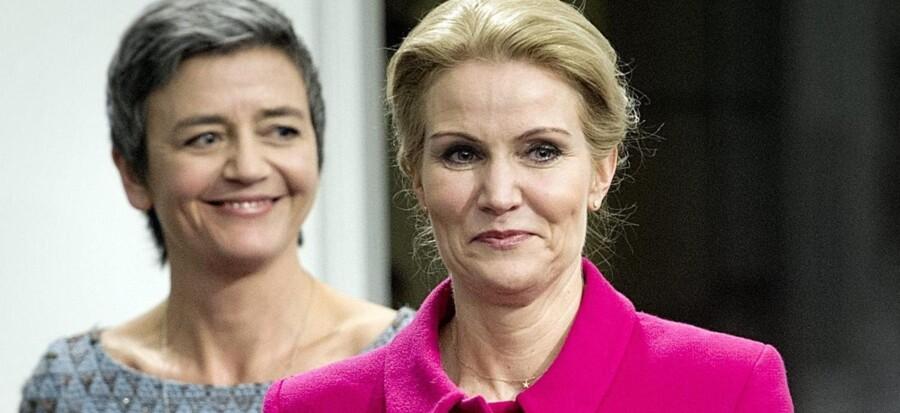 Margrethe Vestager og Helle Thorning- Schmidt må kæmpe internt for udadtil at fremstå en enig regeringskonstellation.