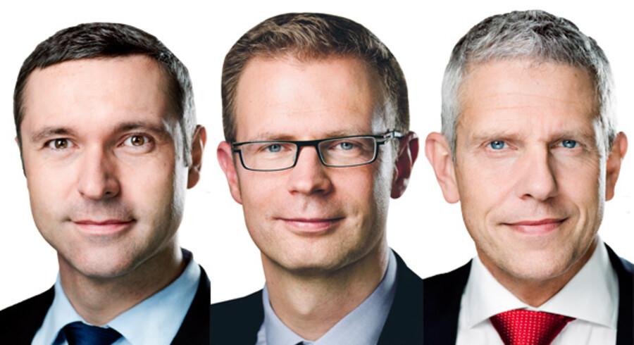 Thomas Jensen, Benny Engelbrecht og John Dyrby Paulsen, alle fra Socialdemokratiet.