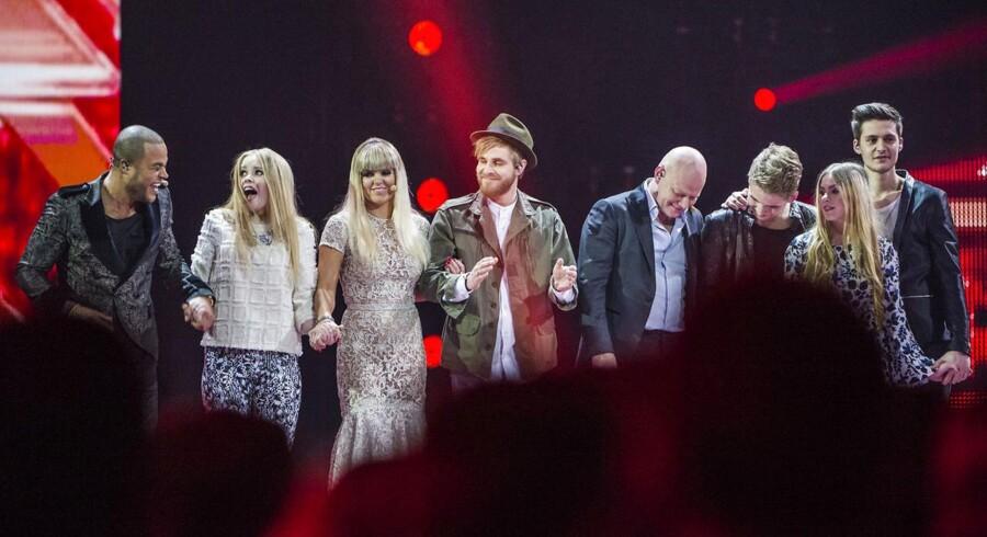 X factor finale i Jyske Bank Boxen fredag den 27. marts 2015. Her ses finalisterne.