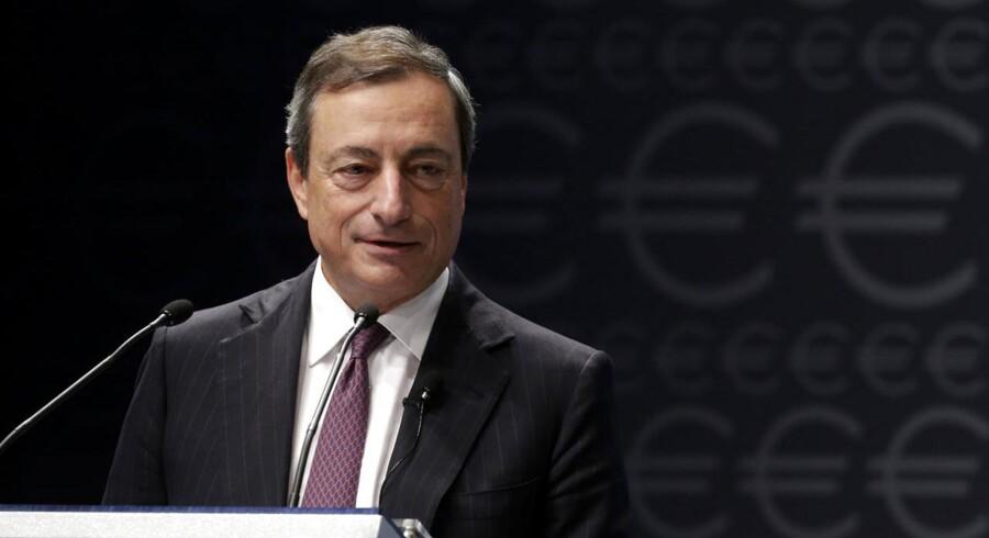 Bankunionen skulle gerne være med til at sætte fart på genrejsningen af bankerne, lyder det fra chefen for Den Europæiske Centralbank, Mario Draghi,