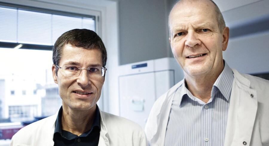 Peter Kurtzhals (til venstre) er chef for diabetesforskning i Novo Nordisk og stærkt optaget af udviklingen af en insulintablet, mens seniorforsker Ib Jonassen er i fuld gang med forskningen i en ny insulin, som kun skal sprøjtes ind i kroppen én gang om ugen.