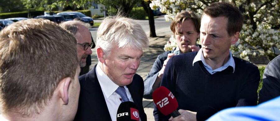 Tidligere departementschef Peter Loft blev mandag afhørt af skattesagskommissionen.
