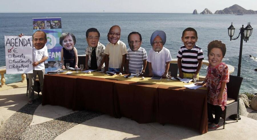 Aktivister i Mexico, hvor lederne af G20-landene nu er samlet