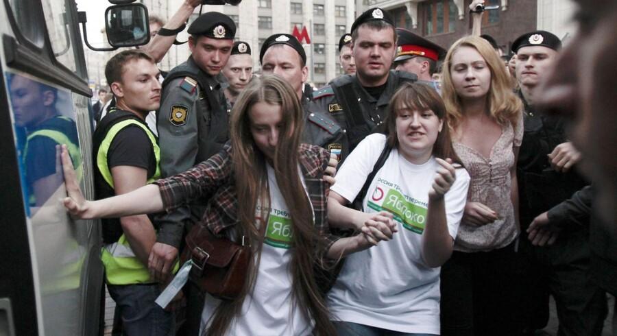 Protester mod Putins styre dukker ofte op i Rusland, og tidligere i dag var der igen protester, da det russiske parlament vedtog regler om hårdere straffe til folk, der forstyrrer den offentlige orden med protestaktioner. Den russiske sortliste mod websites på nettet frygtes at være et magtmiddel, som russiske politikere kan bruge til at stække modstand mod styret.