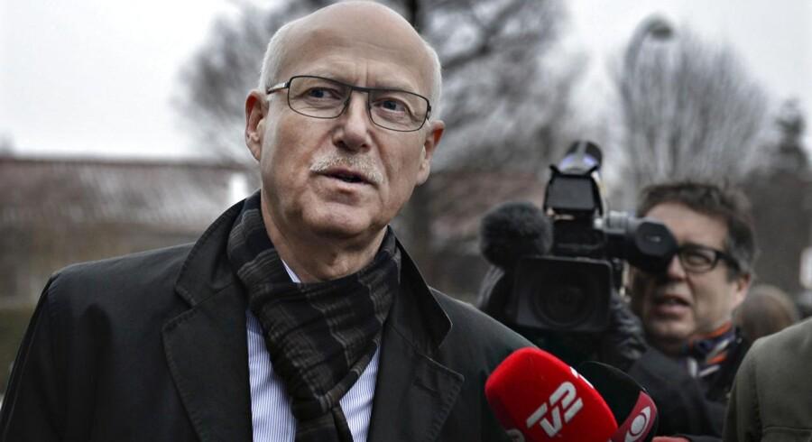 Produktionsdirektør Steffen Normann Hansen ved sin første afhøring i Skattesagskommissionen i januar. Mandag er han tilbage i vidneskranken.