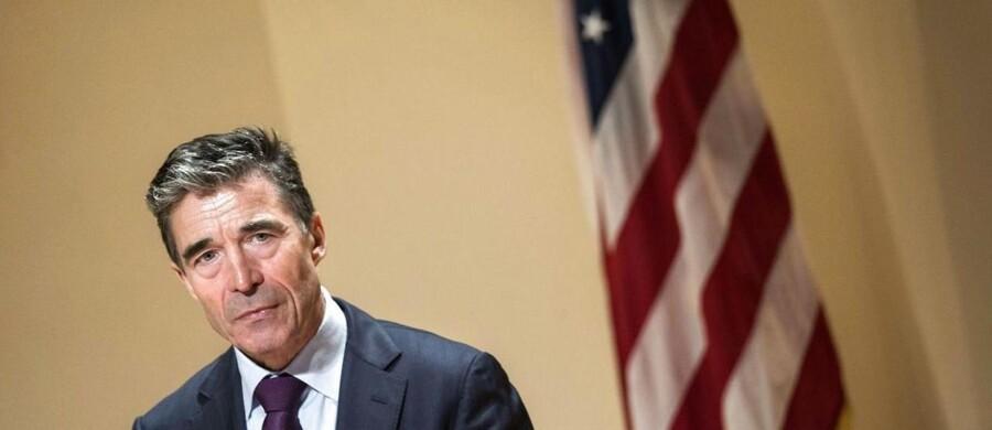 NATOs danske generalsekretær Anders Fogh Rasmussen talte onsdag under et arrangement på Georgetown University i Washington D.C.