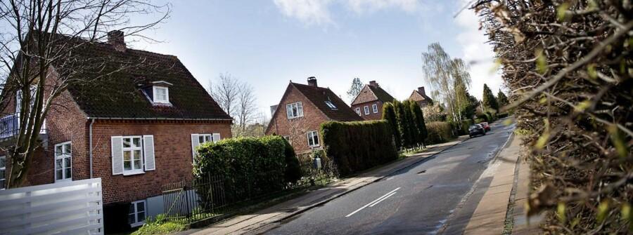 Tyvene har igen i år slået til i de danske hjem i påsken. Især Nordsjælland har været hårdest ramt i år. Her ses et villakvarter i Gentofte.