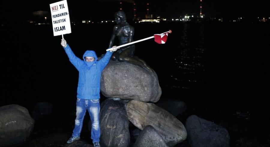Billede fra Pegidas demonstration mod fundamentalistisk islam.