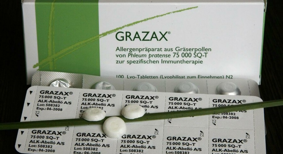 ALK-Abelló står bl.a. bag Grazax, der er en tablet baseret vaccine mod pollen allergi.