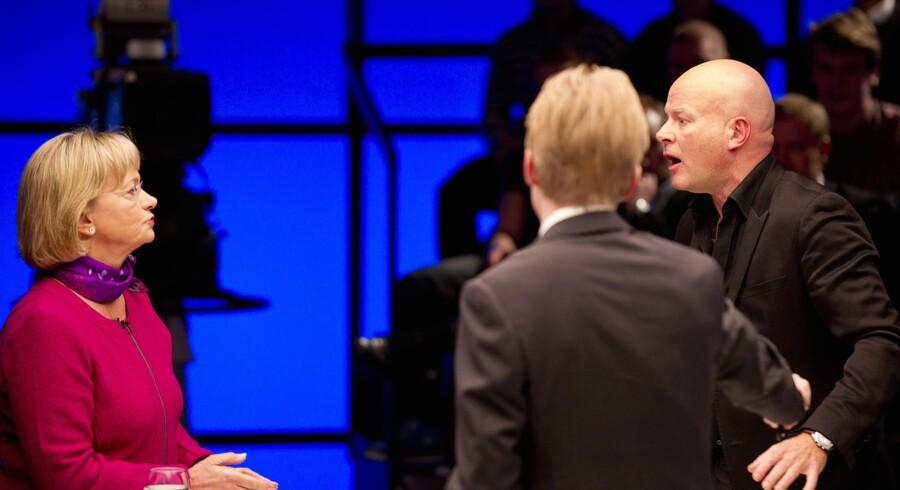 Arkivfoto. Debatten på DR2 med Thomas Blachman og Pia Kjærsgaard.