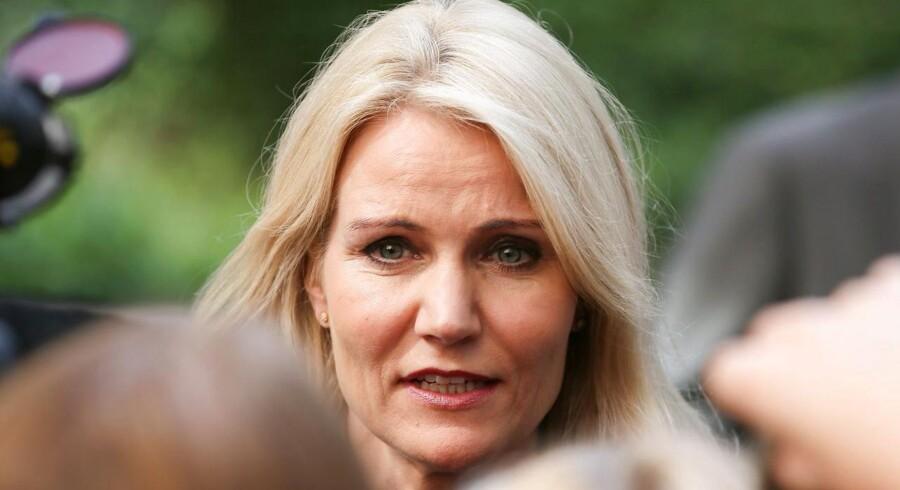 Danmarks statsminister Minister Helle Thorning-Schmidt afviser, at hun er interesseret i jobbet som rådsformand - endnu en gang. EPA/JULIEN WARNAND