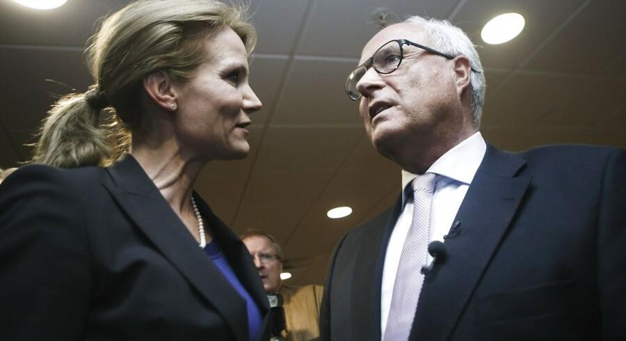 Statsministeren Helle Thorning-Schmidt og Flemming Østergaard.