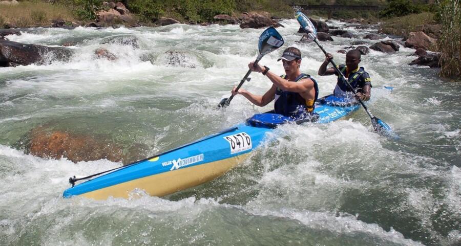 Kano-konkurrence, Dusi Canoe Marathon i Sydafrika. Kano-konkurrencen afvikles over tre dage.