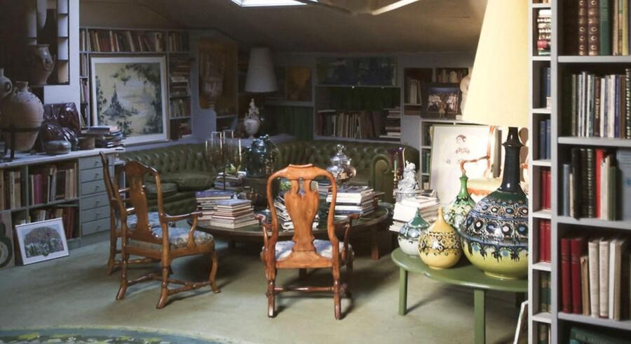 Kunstneren Bjørn Wiinblads hjem er fyldt med egen og andres kunst. Han arbejdede bl.a. for Rosenthal i Tyskland.