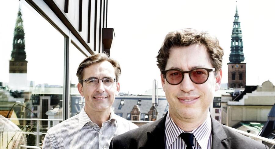 David Solomon, adm. direktør, og Torsten Hoffmann, øverste forskningschef, hos Zealand Pharma.