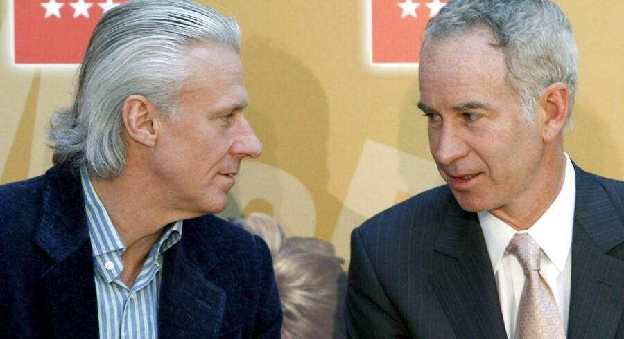"""Bjørn Borg og John McEnroe """"elsker"""" nu hinanden efter mange års rivalisering på tennisbanerne."""