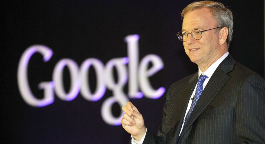 Eric Schmidt, bestyrelsesformand i Google, har optimistiske fremtidstanker om firmaets Android-styresystem. Arkivfoto: AFP / Jung Yeon-je