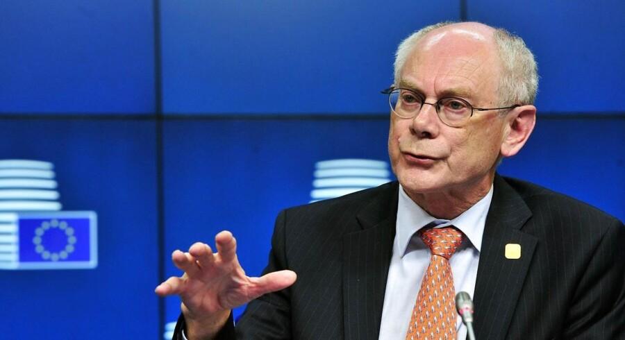 Herman Van Rompuy fik intet ud af anstrengelserne på topmødet. Foto: Georges Gobet/AFP