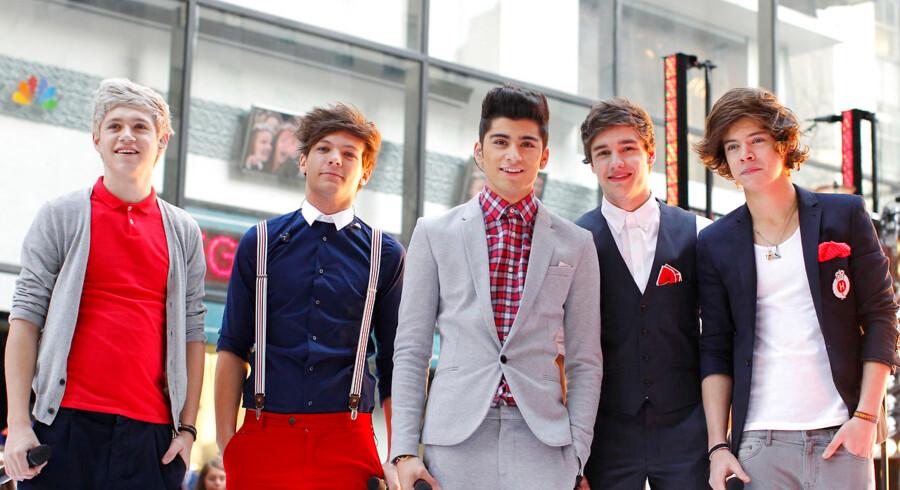 """Det britisk-irske boyband One Direction, som de så ud da de optrådte på NBCs """"Today""""-show i New York, 2012."""