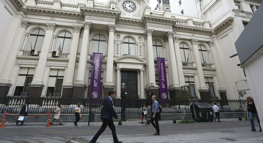 Argentinas centralbank i Buenos Aires.