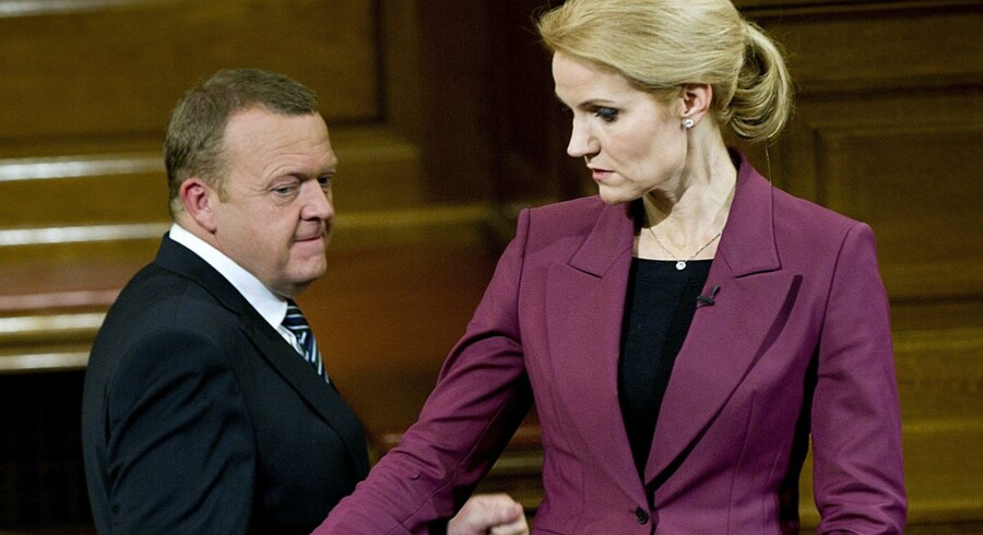 Det kniber med begejstring for Lars Løkke Rasmussen og Helle Thorning-Schmidt. ?Foto: Keld Navntoft?