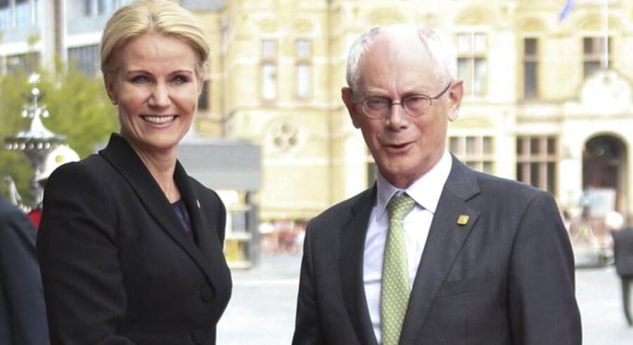 Statsminister Helle Thorning-Schmidt og Herman van Rompuy, formand for Det Europæiske Råd, som Thorning ifølge flere kilder er kandidat til at afløse.