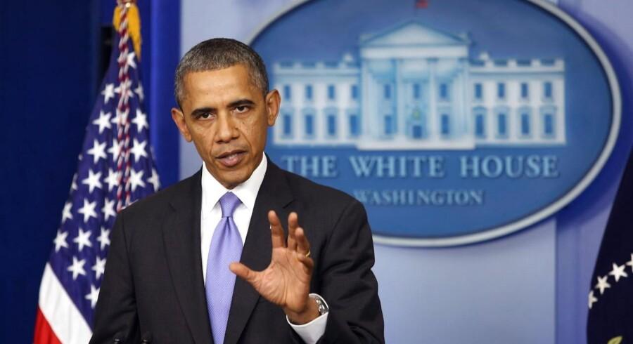 USAs præsident Barack Obama taler efter vedtagelsen af USAs budget