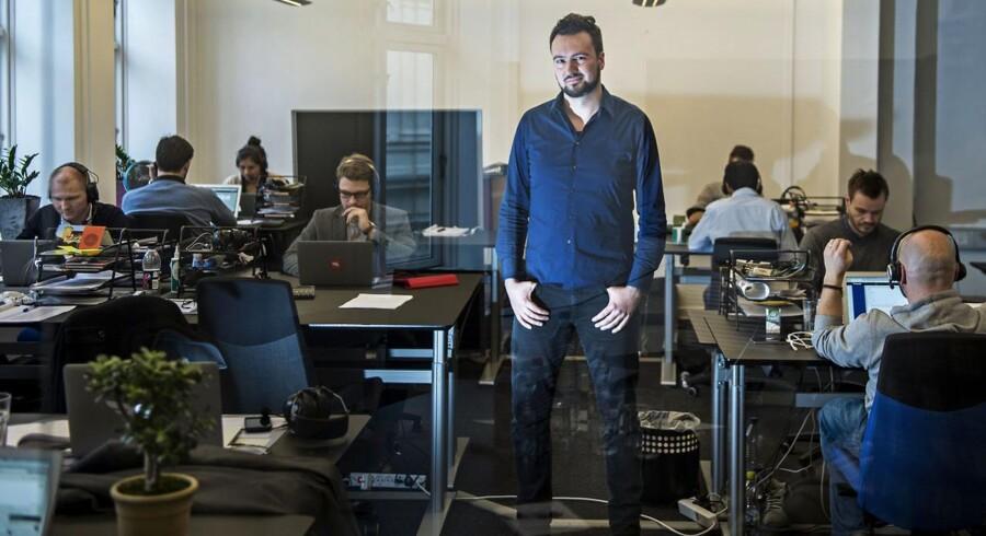 Ulrik Bo Larsen, direktør for Falcon Socials. Deres systemer gør det nemmere for virksomheder at begå sig på sociale medier. Kunderne er internationale, og derfor er der ansatte fra 25 lande på kontoret i Købmagergade.