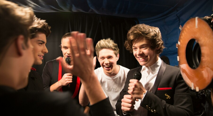 L-R, Louis Tomlinson, Zayn Malik, Liam Payne, Niall Horan og Harry Styles i Tri Star Pictures' »One Direction: This Is Us.«