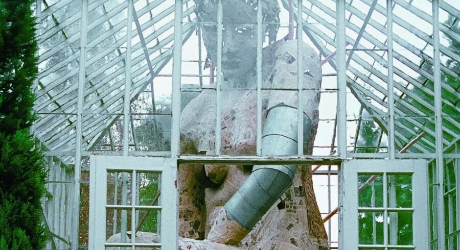 Blandt Susanne Ussings mest kendte værker var hendes installation i 1980 i et drivhus i Ordrupgaards park. Pressefoto: Den Frie