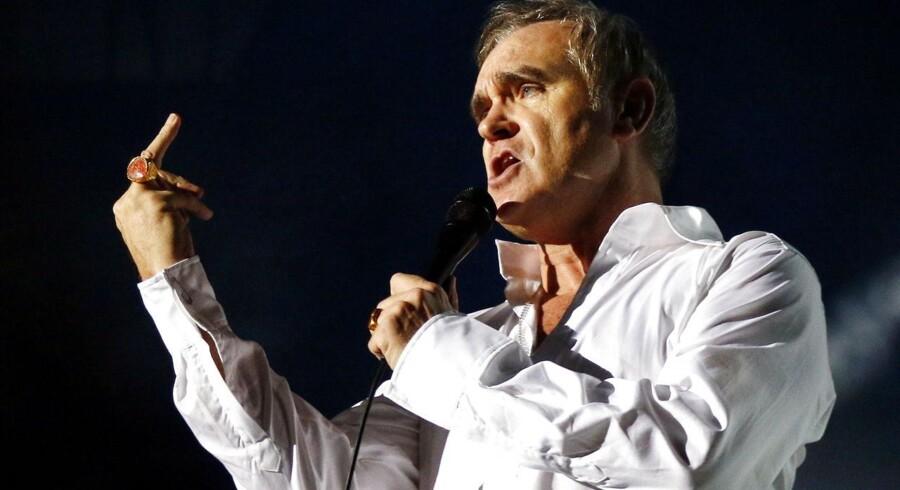 Morrissey på scenen - som forfatter er han tirsdag blandt favoritterne til prisen for de værste sex-beskrivelser.