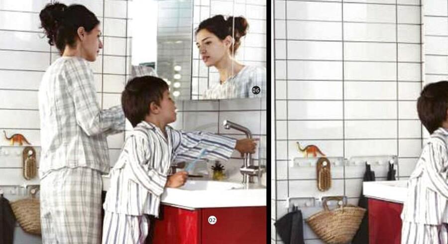 De to versioner af IKEA kataloget er blevet verdenskendt på nogle få dage.