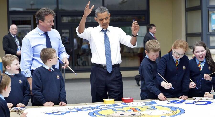 Den britiske premierminister David Cameron vil som vært for G8-topmødet varme op under præsident Barack Obama for at sikre en frihandelsaftale mellem USA og EU.