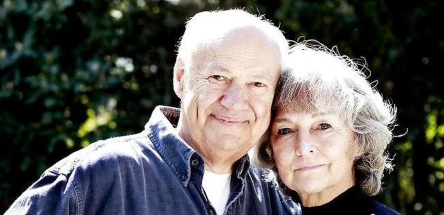 Den tidligere fodboldstjerne Harald Nielsen er død. Her sammen med sin hustru, Rudi.