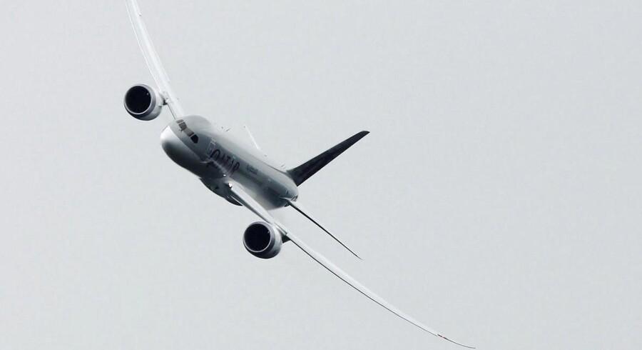 Boeings 787 Dreamliner er atter kommet i luften. Her er den en, der tilhører Qatar Airways.