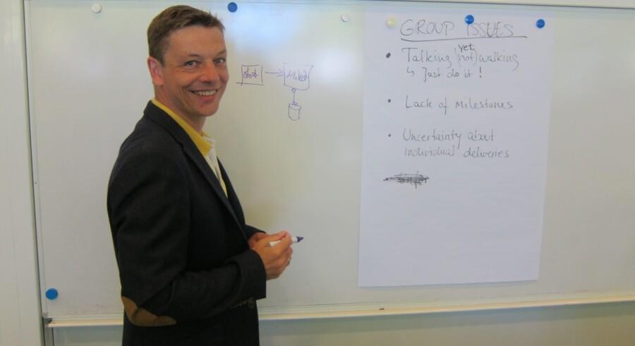 Lars Struwe har netop startet eget konsulentfirma med nogle medkursister, efter han afsluttede kurset . Foto: Jakob Kirk