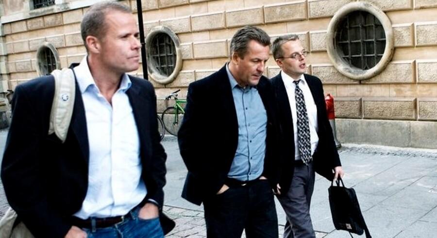 Thomas Rathsack, Jakob Kvist, fra Peoples Press og advokat Tyge Trier, Fogederettet i København