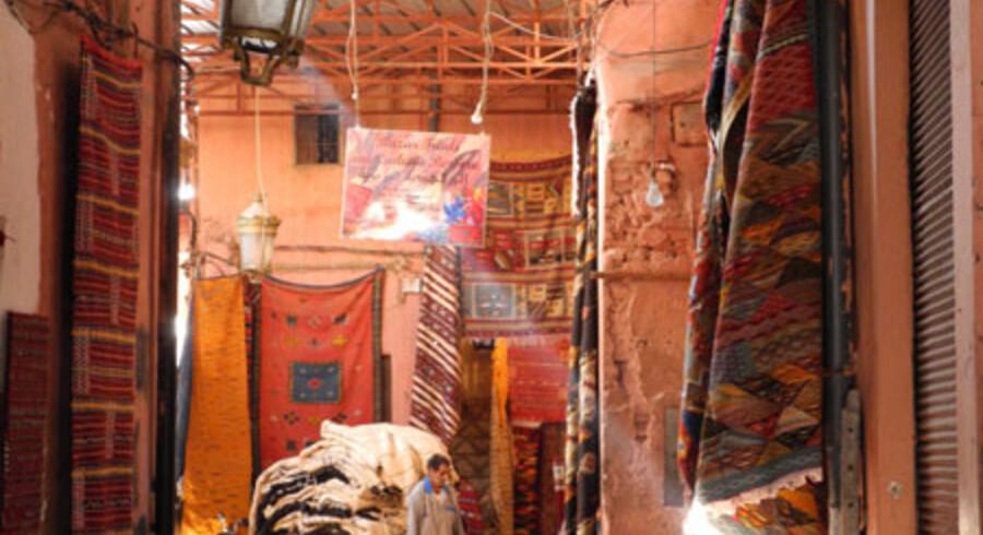 Marrakech er fyldt med alverdens farvestrålende ting og sager.