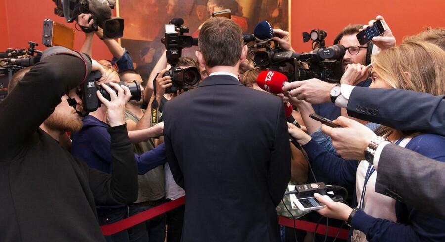 Pressen var rigt repræsenteret ved Venstres gruppemøde