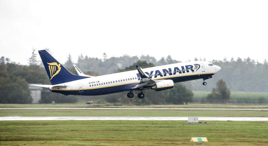 - Ryanair - fly letter fra Billund Lufthavn 30.09.2104