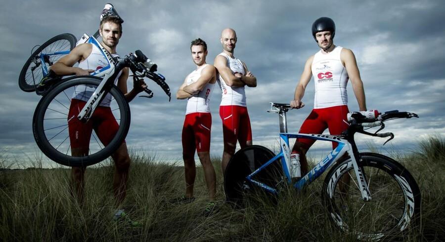 De fire brødre fra Hvidovre skal om en uge dyste til VM i Ironman på Hawaii den 12. oktober. Det er første gang i Ironmans historie, at fire brødre kvalificerer sig sammen til VM.Fra venstre: Martin Lawaetz, Anders Lawaetz, Thomas Lawaetz og Jonathan Lawaetz