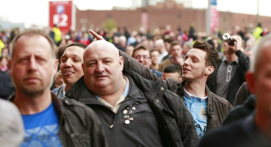 Manchester City-fans blev overfaldet af spanske bøller i Sevilla. (arkivfoto)