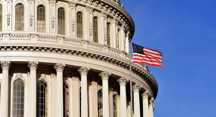Bag disse mure i den amerikanske parlamentsbygning i Washington DC, The Capitol, blev parlamentarikerne natten til onsdag enige om en ny budgetaftale.