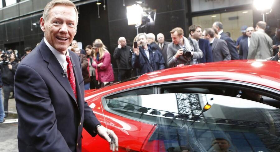 Fords topchef, Alan Mulally, nævnes som topfavoritter til at overtage den snart ledige post i spidsen for Microsoft - og al den snak irriterer Fords bestyrelse. Arkivfoto: Brendan McDermid, Reuters/Scanpix