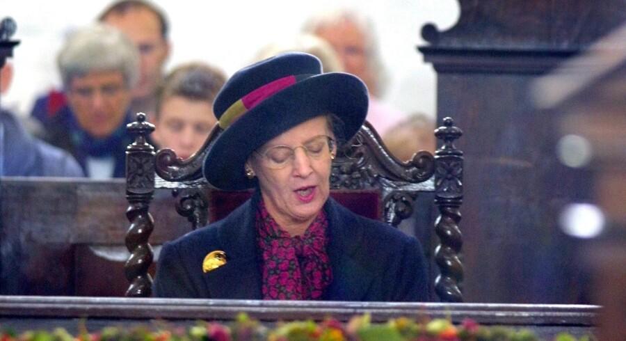 Dronning Margrethe er en ivrig kirkegænger, men »Dronningen og statsmagten skal da ikke bestemme, hvad der skal synges i kirken,« siger formand Svend Andersen, Selskab for Kirkeret. Arkivfoto: Thorkild Amdi