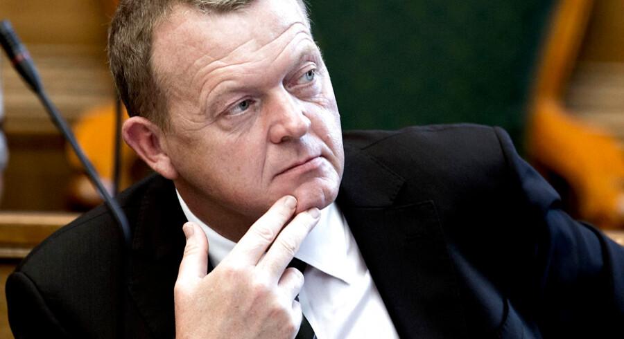 Folketingets åbning tirsdag d. 7. oktober 2014. Lars Løkke Rasmussen i Folketingssalen. (Foto: Keld Navntoft/Scanpix 2014)