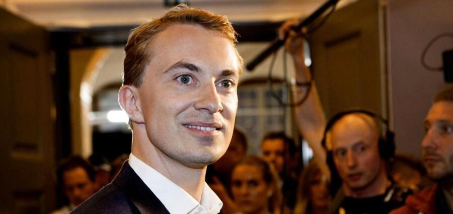 Morten Messerschmidt på Christiansborg sent søndag aften d.25.maj 2014, efter Europaparlamentsvalget.