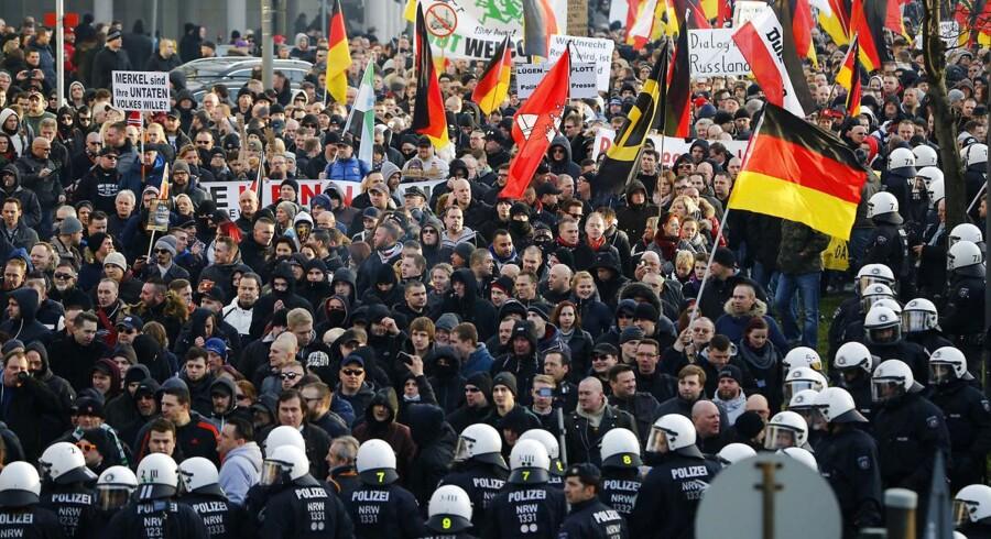 PEGIDA-demonstrationen måtte opløses.