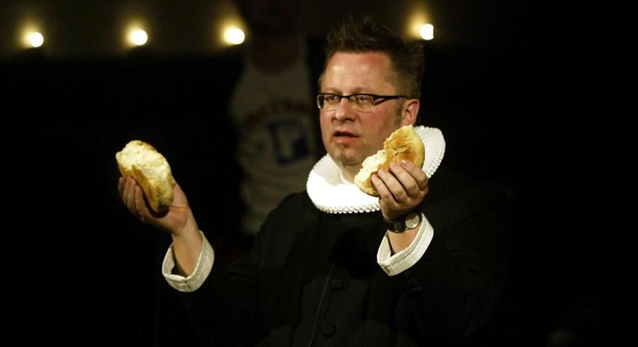 Arkivfoto. Præsten Per Ramsdal taler ved rockgudstjeneste i Brorsons Kirken på Nørrebro.